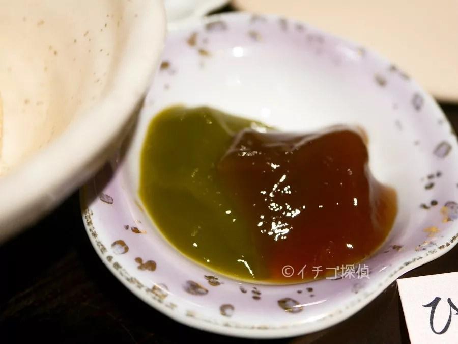 名古屋【吾妻茶寮】「あその小雪」と「白い宝石」の白いちごパフェに5種の苺食べ比べができ る抹茶フォンデュ!