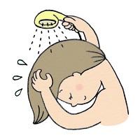 シャンプーの後は十分にすすぎをしてますか