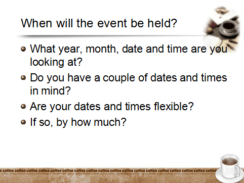 How to Plan Your Event