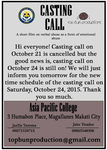 Philippine Auditions 19 October 2015