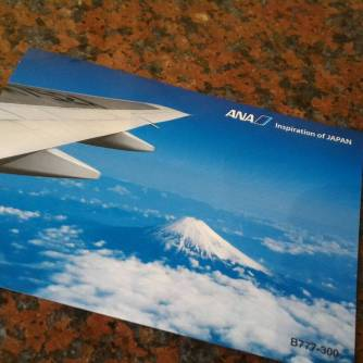 ANA airline postcard