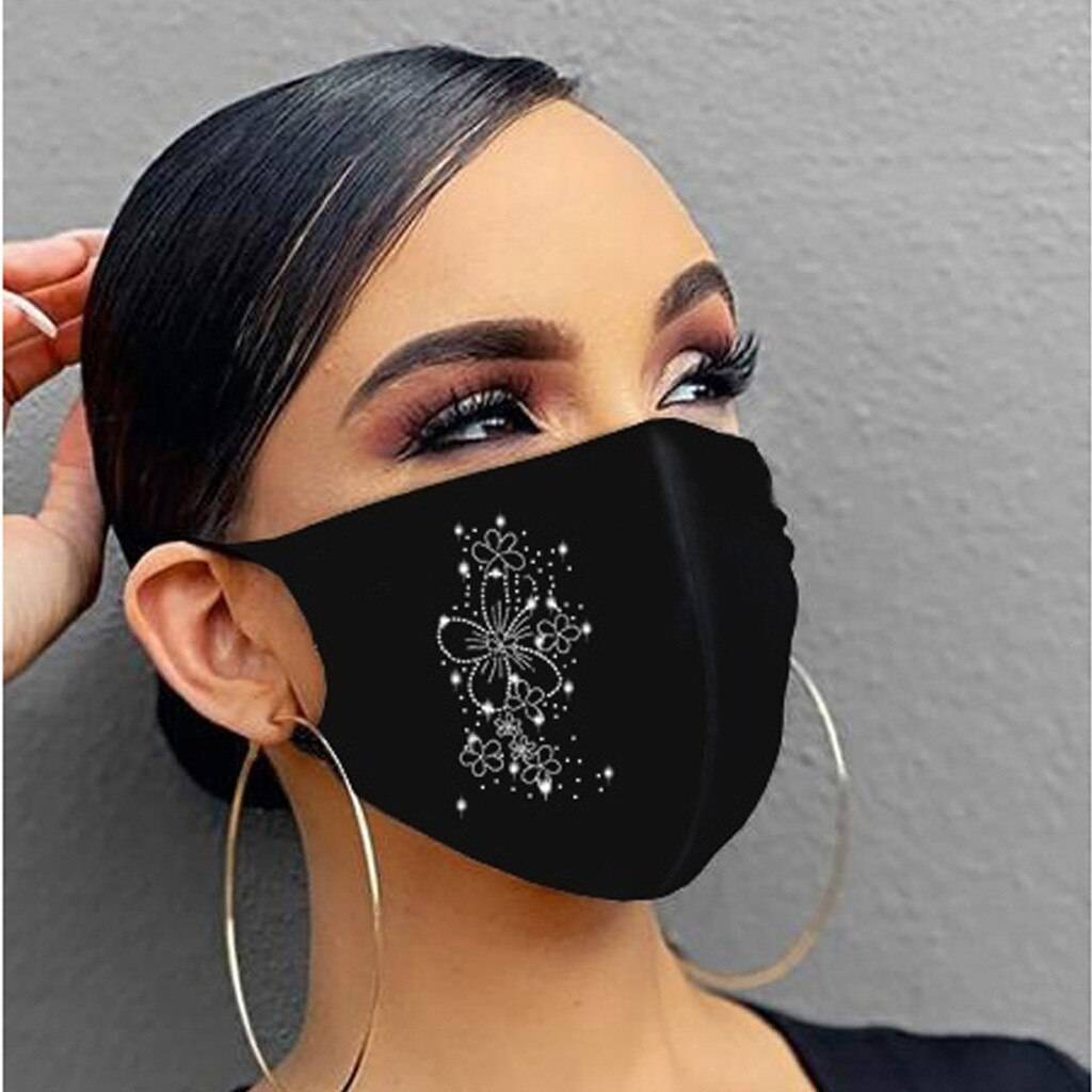 2020 new crystal masquerade mask ladies party hot diamond rhinestone butterfly decoration mask women Beauty & Health