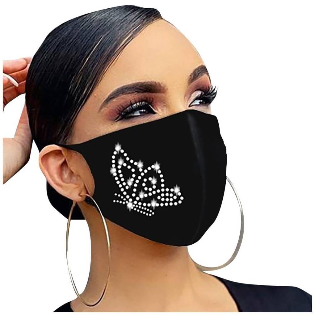 2020 new crystal masquerade mask ladies party hot diamond rhinestone butterfly decoration mask women