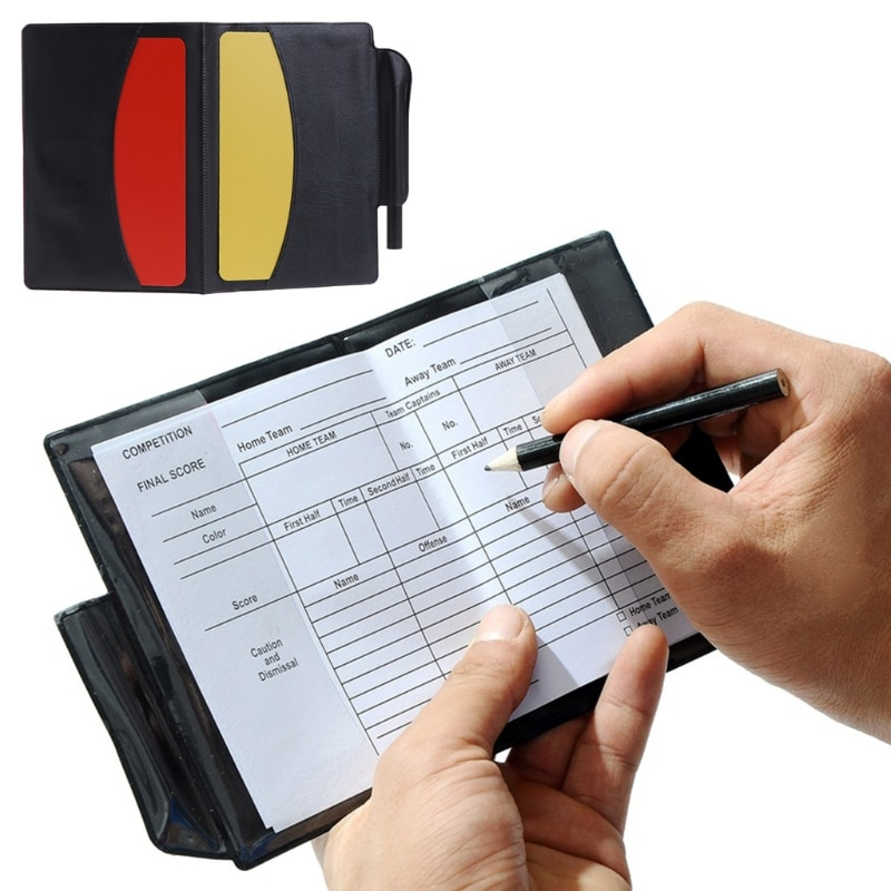 New Sport Football Soccer Referee Wallet Notebook with Red Card and Yellow Card Team Sports Soccer Entertainment Sports & Entertainment