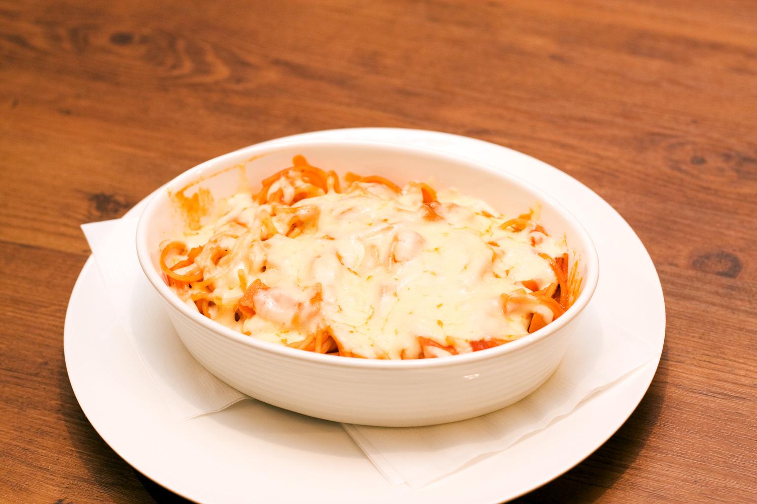 チーズ焼きナポリタン 他2品