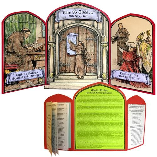Fun project about Martin Luther and the 95 Theses from Homeschool in the Woods
