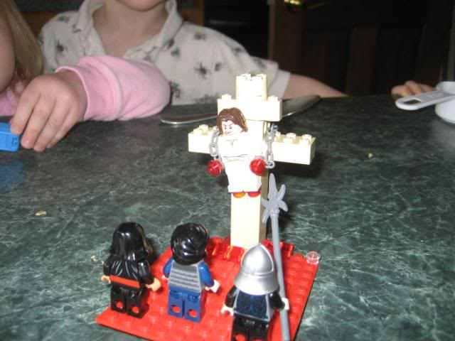 Easter scene with Legos