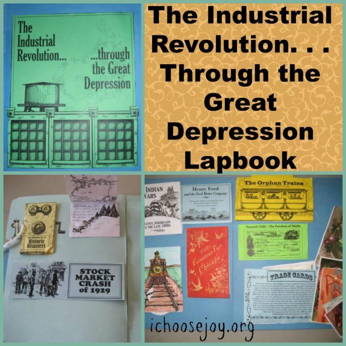 The Industrial Revolution thru Great Depression Lapbook. #history #lapbook #homeschoolinthewoods #ichoosejoyblog