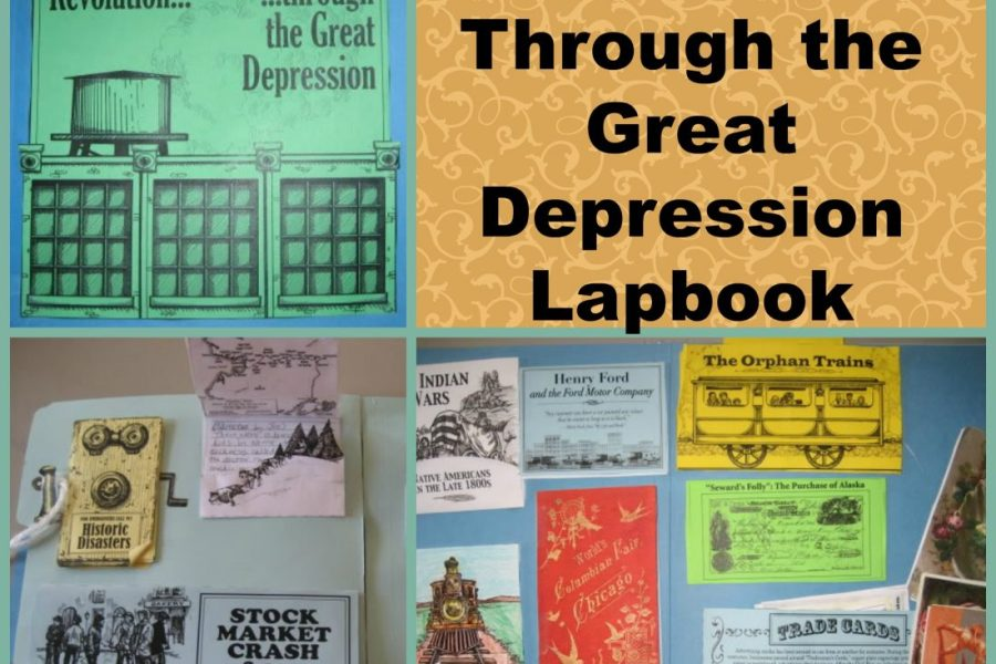 The Industrial Revolution thru Great Depression Lapbook from Homeschool in the Woods. See the pictures of our lapbook and see how these great materials from Homeschool in the Woods can be use to supplement any homeschool history curriculum. From I Choose Joy!