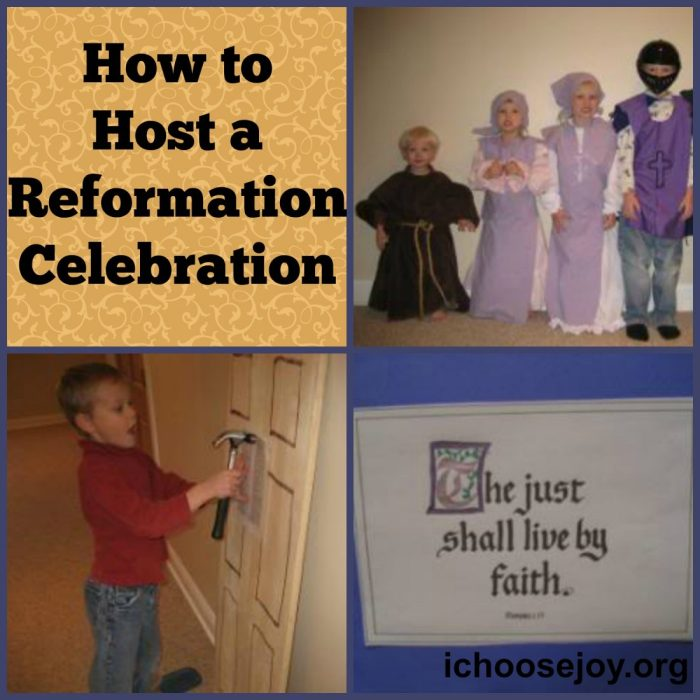 How to Host a Reformation Day Celebration: ideas for games, costumes, activities #ReformationDay #celebration #homeschooling
