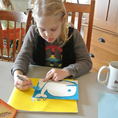 From House to Home {Link Party}: Watercolor Whales