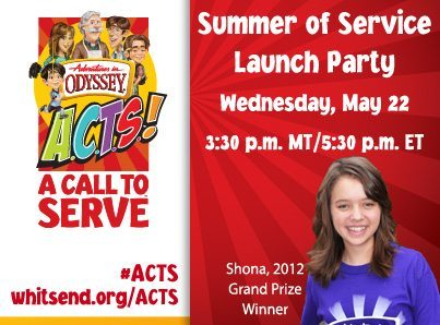 Adventures in Odyssey A.C.T.S. Summer of Service Project