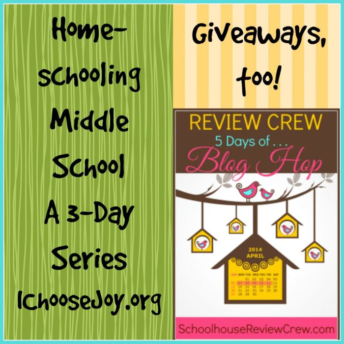 Day 1: Homeschooling Middle School with Grapevine Bible Studies (GIVEAWAY!)