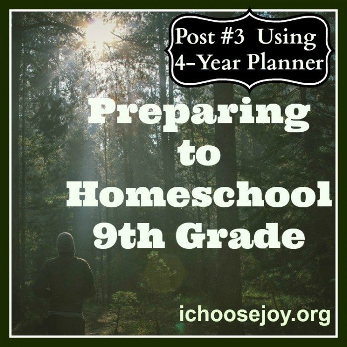 Preparing to Teach Ninth Grade- 4 Year Planner