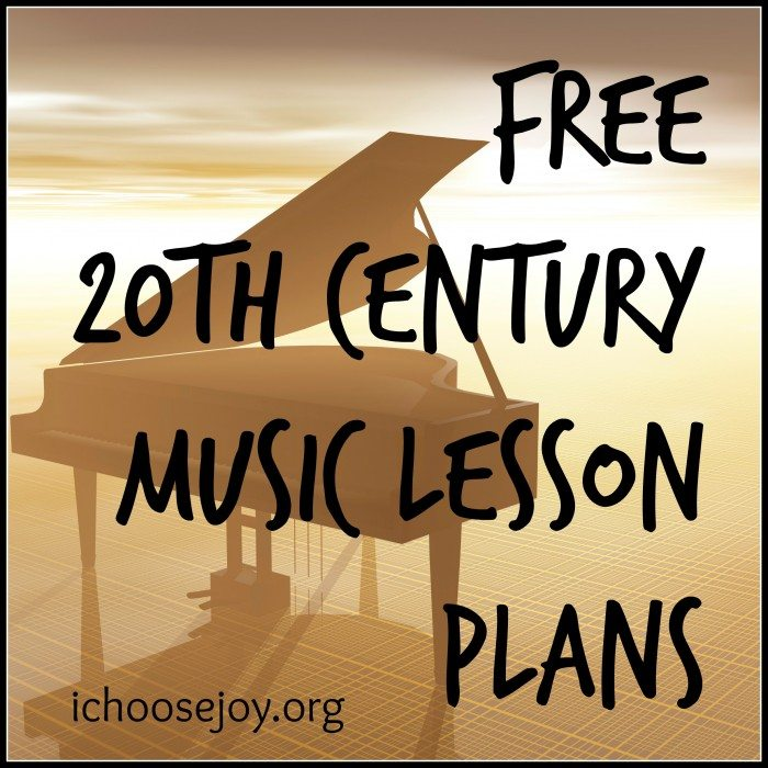 Free 20th century music lesson plans and printables teaching 20th century music appreciation at homeschool co op fandeluxe Image collections