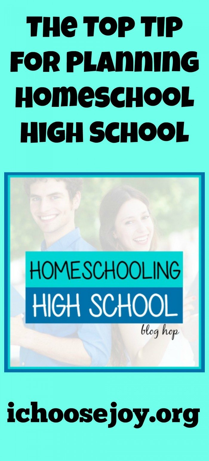 Top Tip for Homeschooling High School