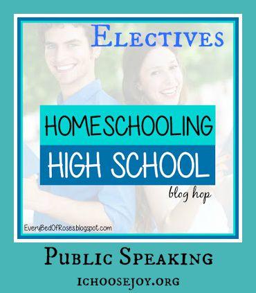Homeschool High School Public Speaking speech drama and debate