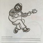 American Folk Singers coloring sheet free download