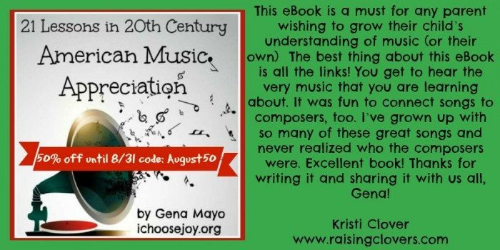 21 Lessons in 20th Century American Music Appreciation August sale Twitter Kristi Clover