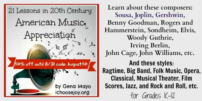 21 Lessons in 20th Century American Music Appreciation August sale Twitter details