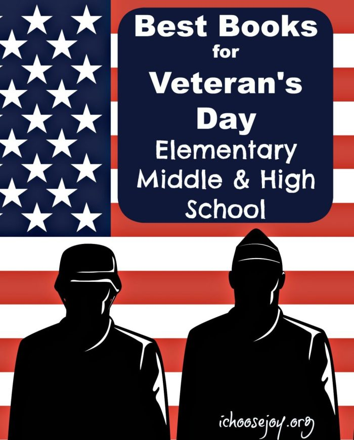 Best Books for Veteran's Day Elementary, Middle, and High School #VeteransDay #Veterans #booklists #homeschooling #resources #greatbooks