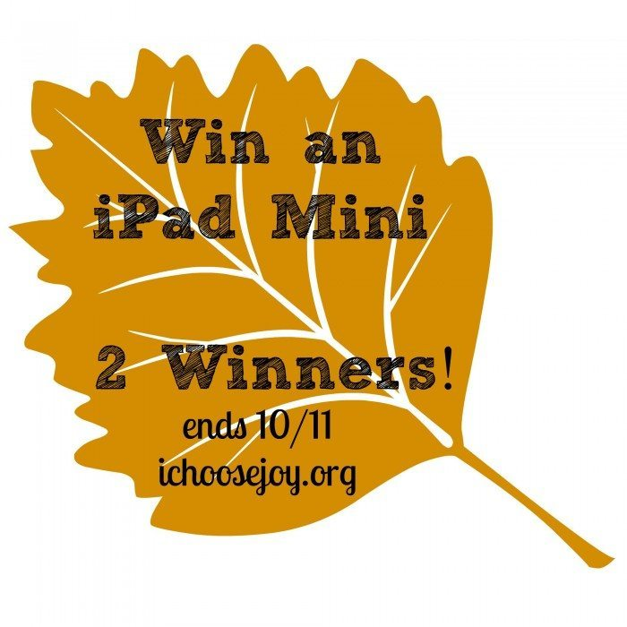iPad Mini Giveaway ends Oct. 11