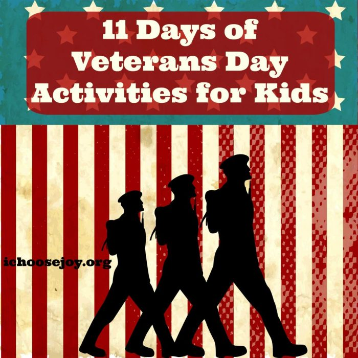 11 Days of Veterans Day Activities for Kids