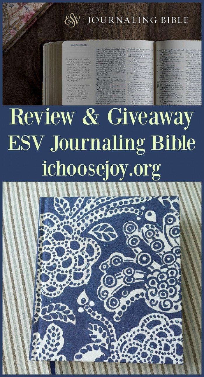 ESV Journaling Bible Review & Giveaway