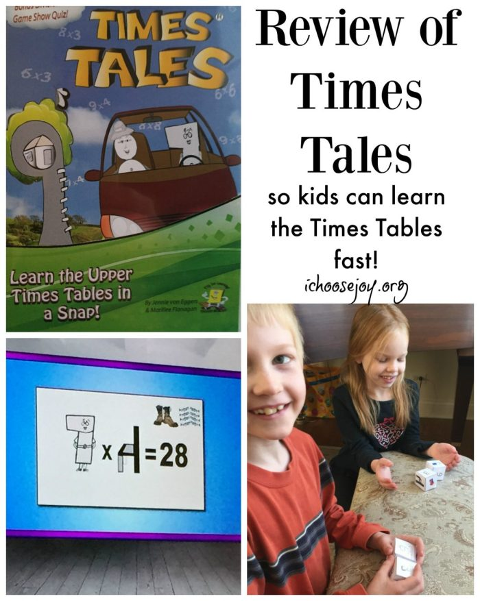 Review: Times Tales DVD to learn times tables fast!