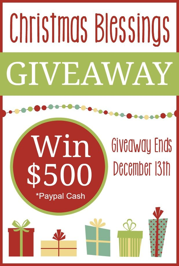 Christmas Blessings $500 Cash Giveaway!