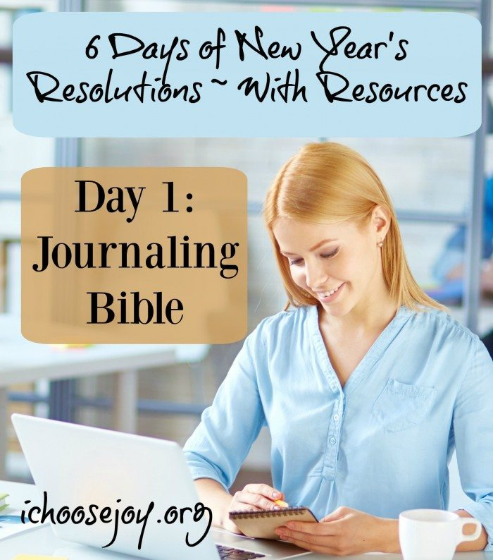 New Year's Resolutions Journaling Bible