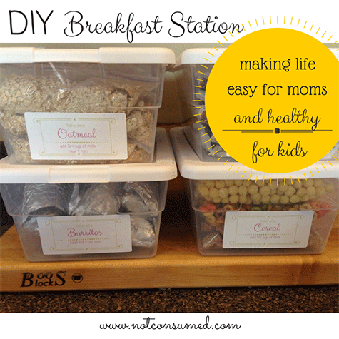 "DIY Breakfast/Lunch Station: Day 4 of ""6 Days of Resolutions"""