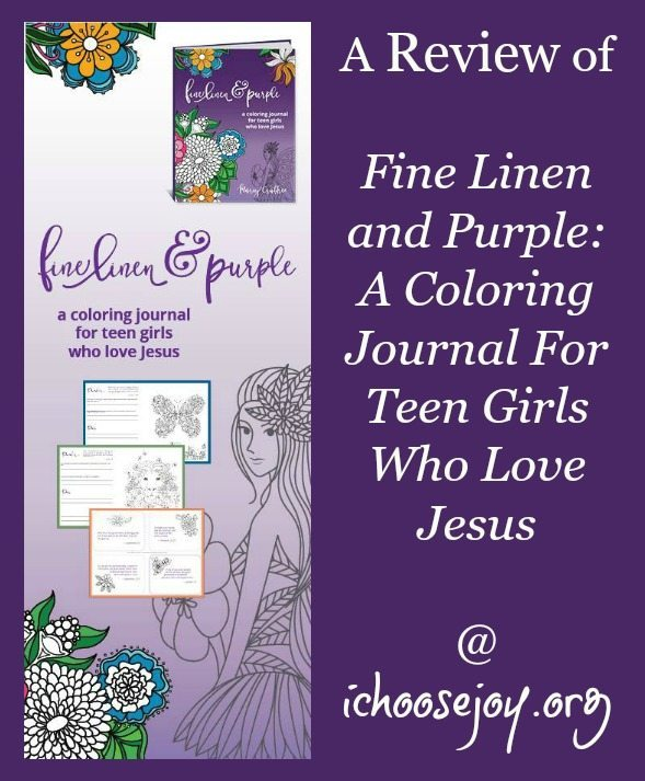 A Review of Fine Linen and Purple- A Coloring Journal for Teen Girls Who Love Jesus