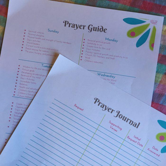 Prayer Guide and Prayer Journal
