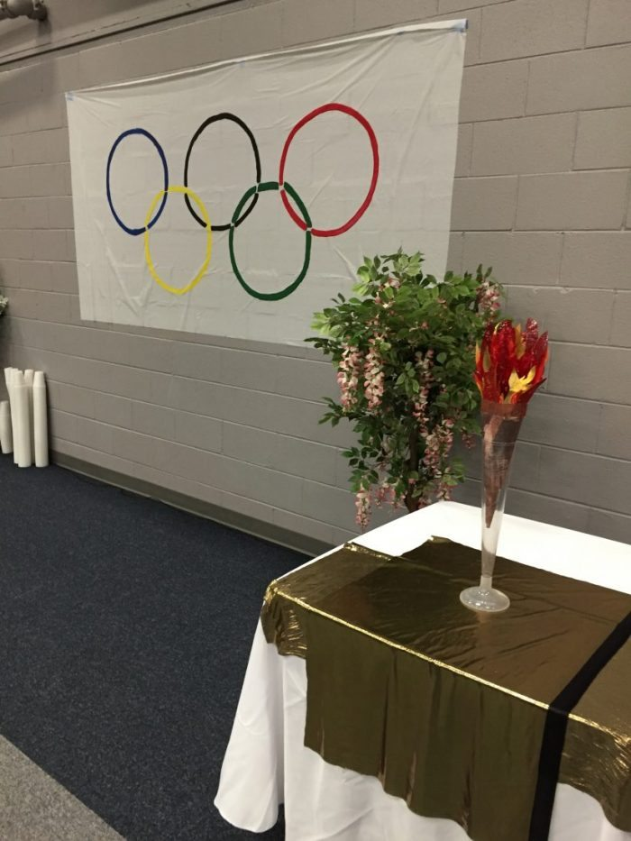 Olympic Games event- the torch