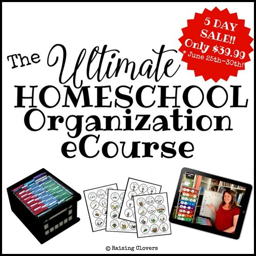 The Ultimate Homeschool Organization eCourse (introductory price)