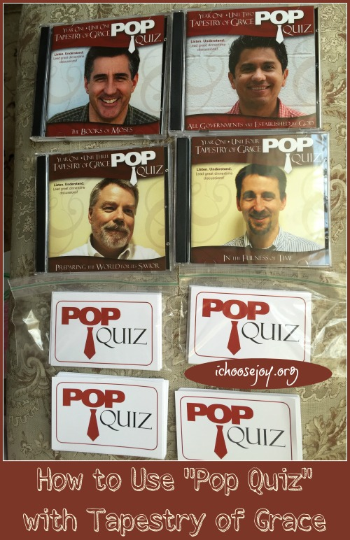 """How to Use """"Pop Quiz"""" with Tapestry of Grace"""