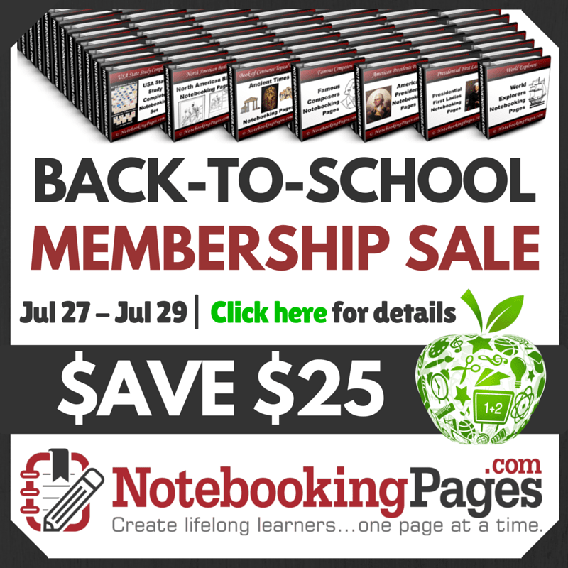 Lifetime Memberships to Notebooking Pages on sale for 3 Days!