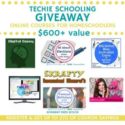 Techie Schooling Online Courses for Homeschool Giveaway