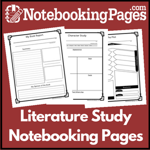 Brand New: Literature Study & Book Report Notebooking Pages