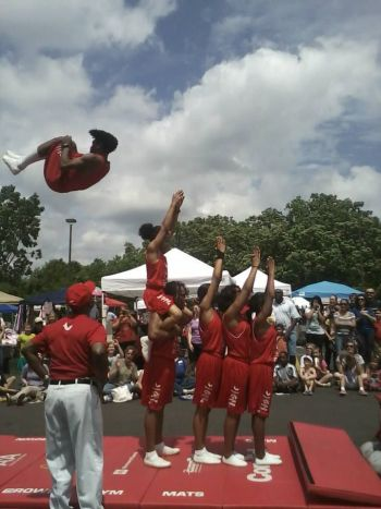 Jesse White Tumblers at the library