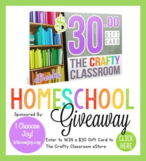 The Crafty Classroom $30 Gift Certificate giveaway (ends 11/14)