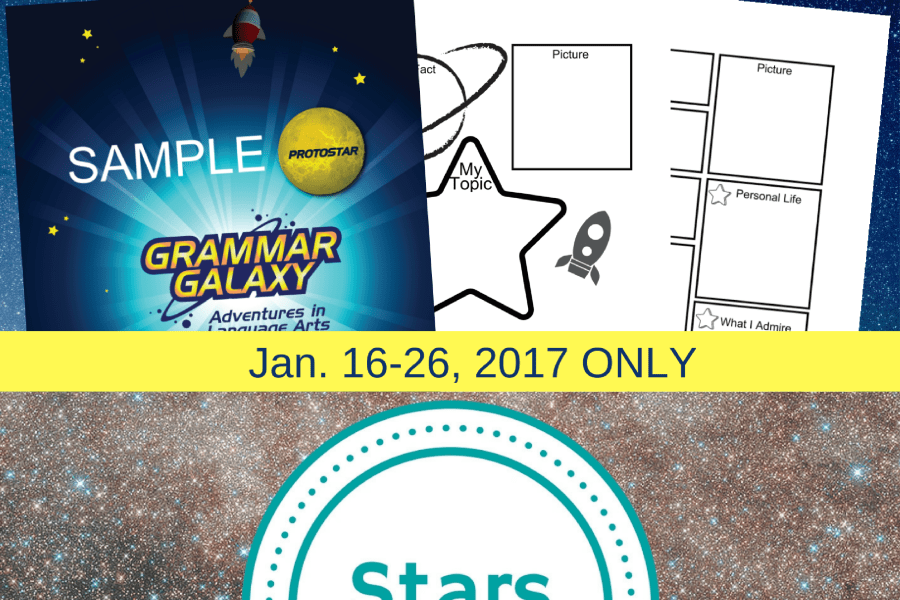 Stars and Grammar Galaxy research lesson freebie