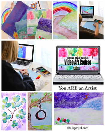 Spring Chalk Pastels Video Art Course