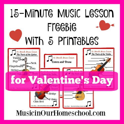 15-Minute Valentine's Day Music Lesson Freebie with 5 Printables