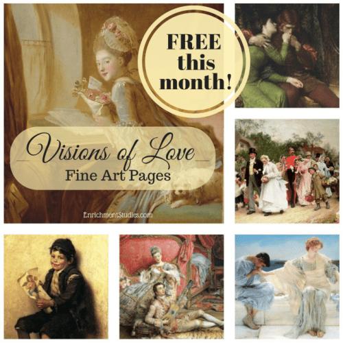 Visions of Love art appreciation freebie