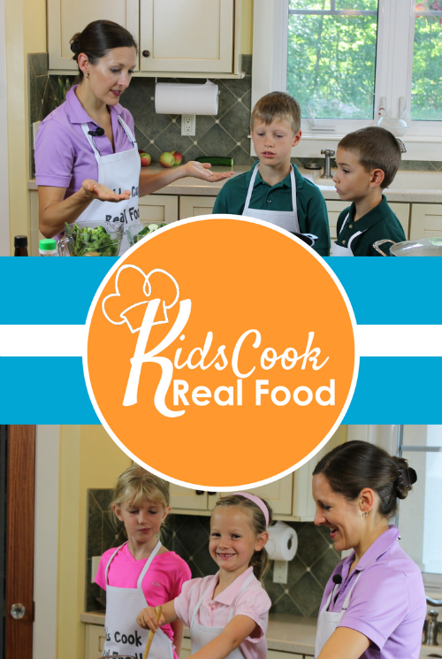 Kids Cook Real Food cooking course. Teach your kids to cook!