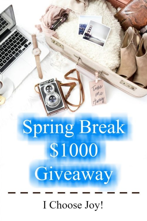 Spring Break $1000 Giveaway