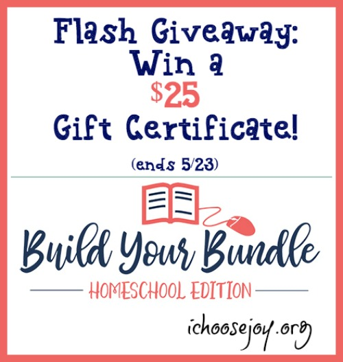 Flash Giveaway: $25 Build Your Bundle Gift Certificate