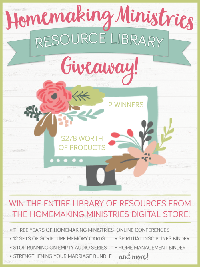 Amazing Homemaking Resources Giveaway
